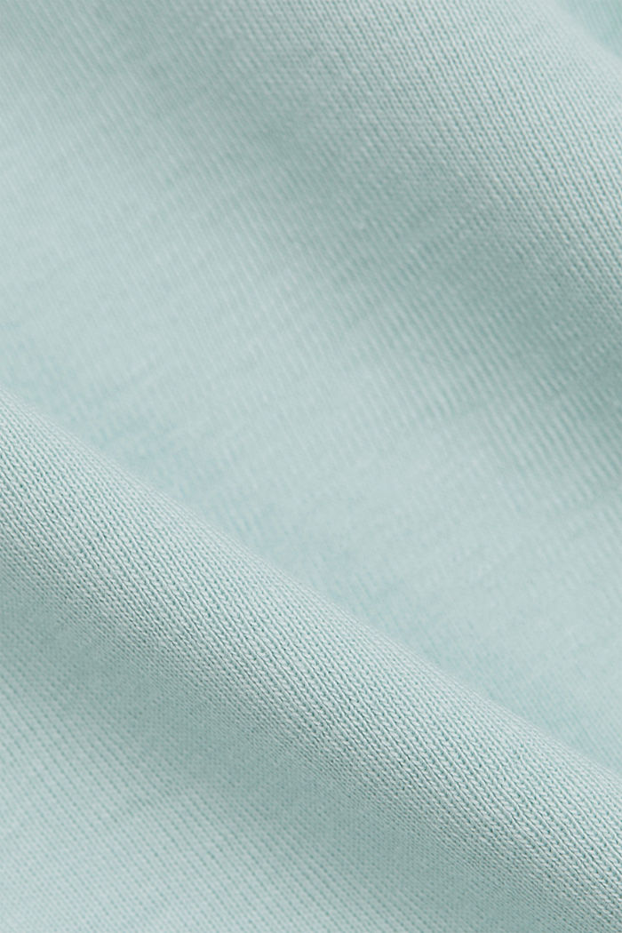T-shirt with a glittery logo, 100% organic cotton, LIGHT AQUA GREEN, detail image number 4