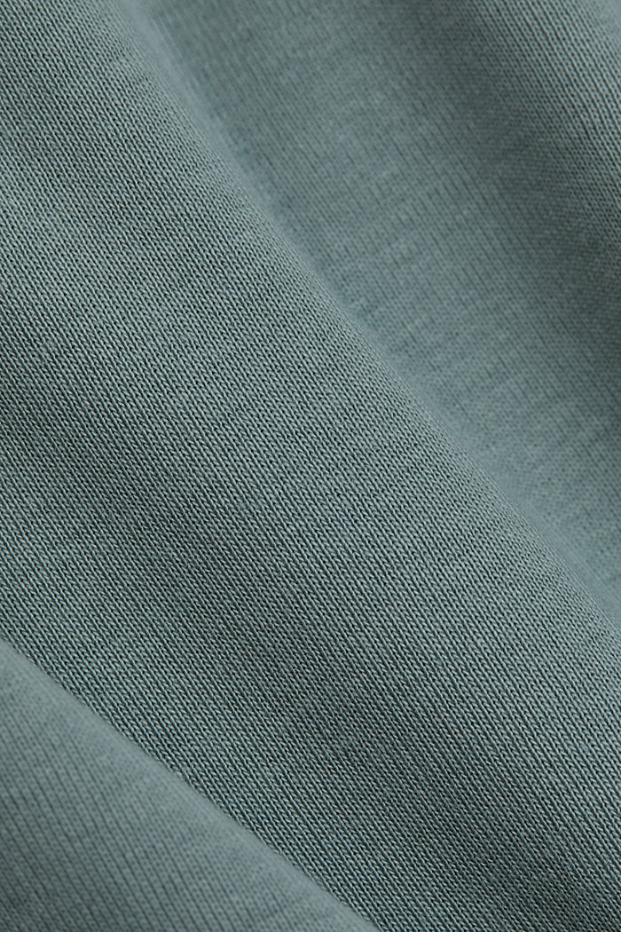 T-shirt with a glittery logo, 100% organic cotton, TURQUOISE, detail image number 4