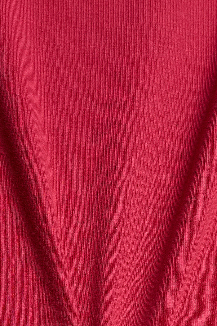 T-shirt with a glittery logo, 100% organic cotton, DARK PINK, detail image number 4