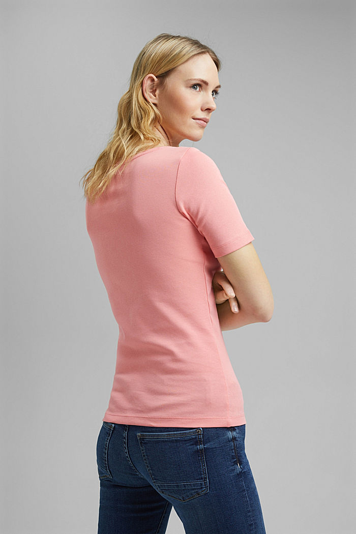 T-shirt with a glittery logo, 100% organic cotton, PINK, detail image number 3