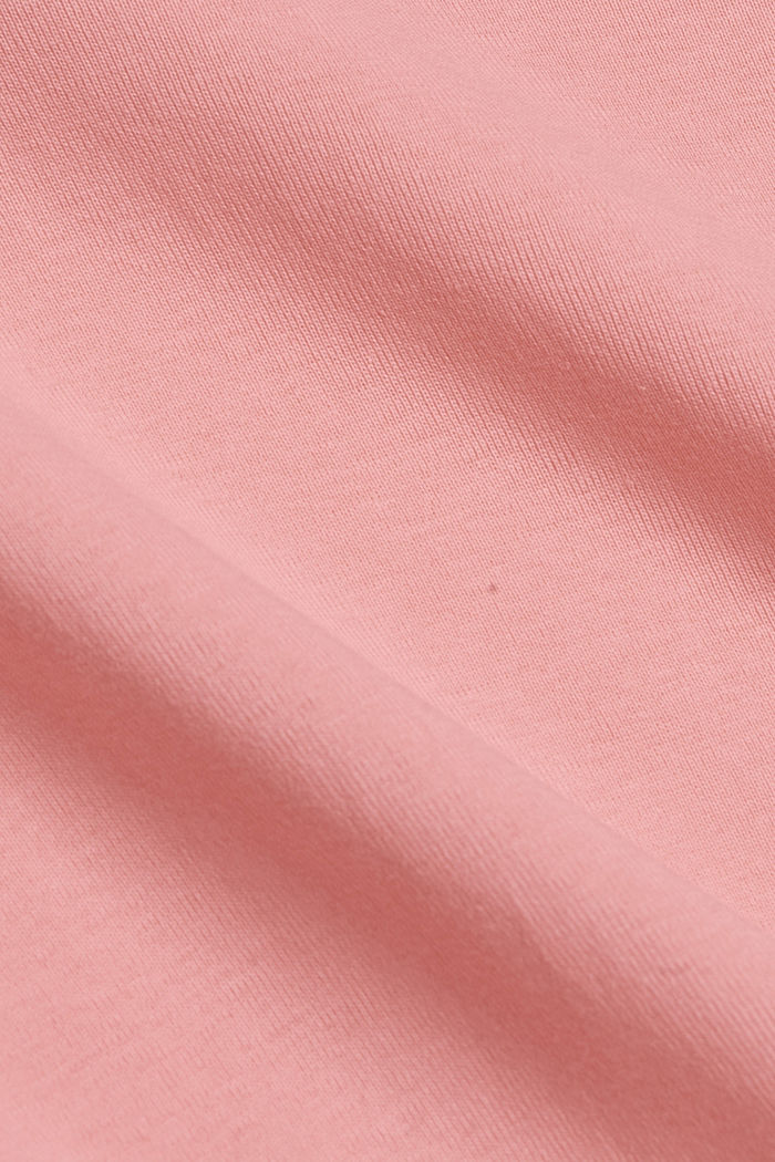T-shirt with a glittery logo, 100% organic cotton, PINK, detail image number 4