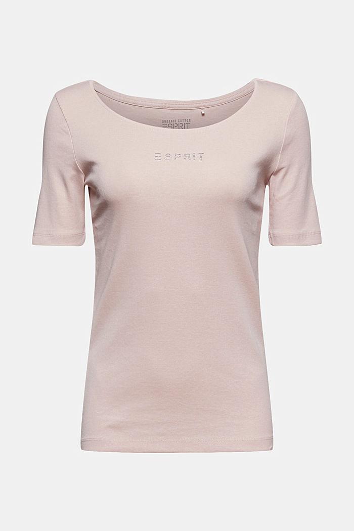 T-Shirt mit Glitzer-Logo, 100% Bio-Baumwolle