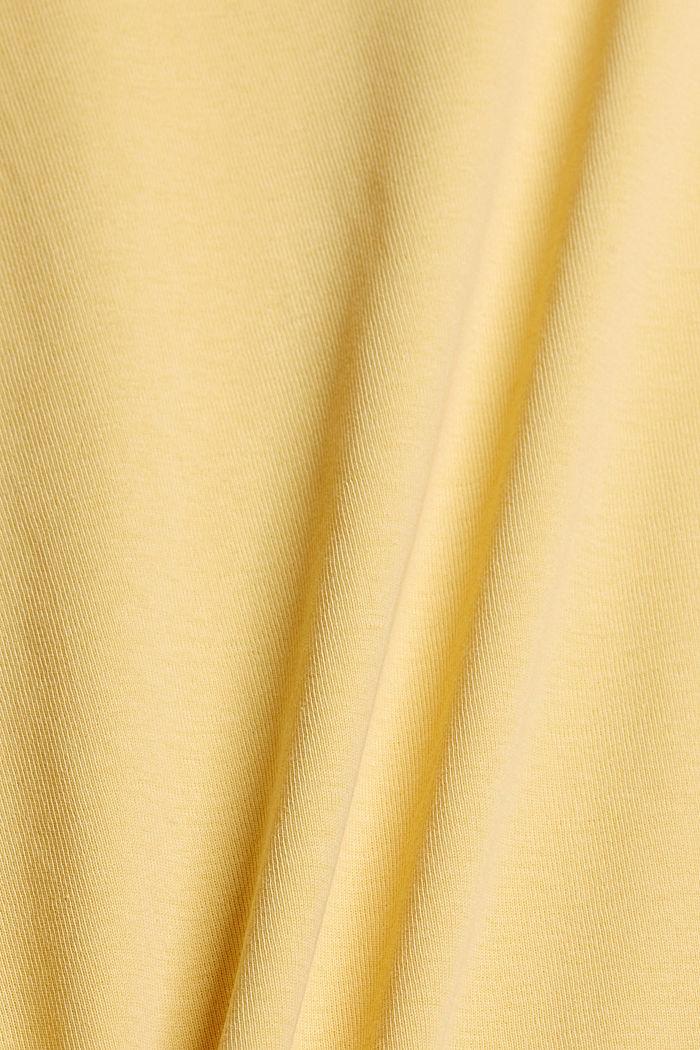 T-Shirt mit Glitzer-Logo, 100% Bio-Baumwolle, SUNFLOWER YELLOW, detail image number 4