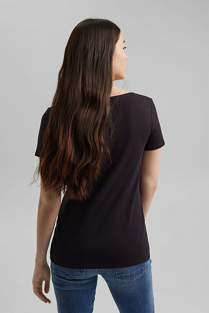Basic T-shirt in organic cotton, BLACK, detail image number 3