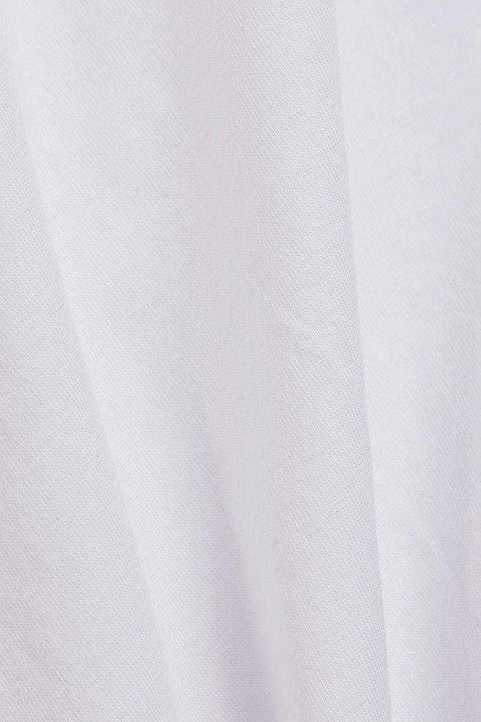 Basic T-shirt in organic cotton, WHITE, detail image number 4