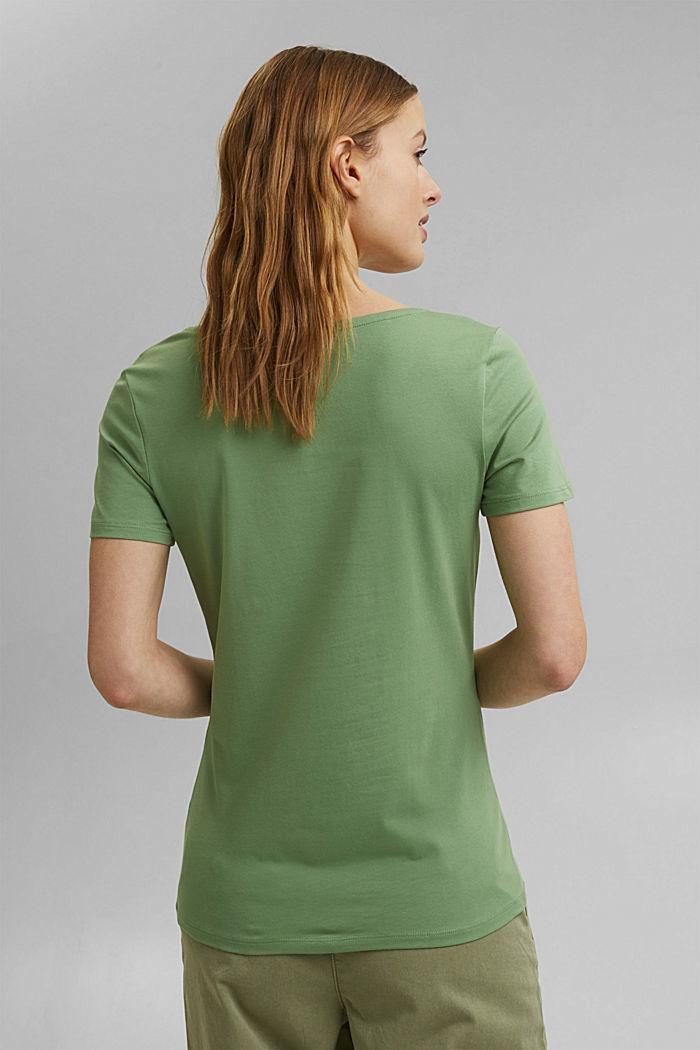 T shirt basique en coton biologique, LEAF GREEN, detail image number 3