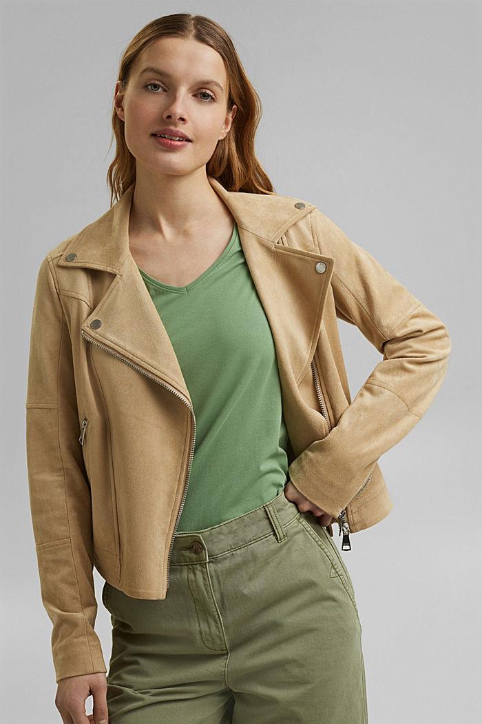 T shirt basique en coton biologique, LEAF GREEN, detail image number 5