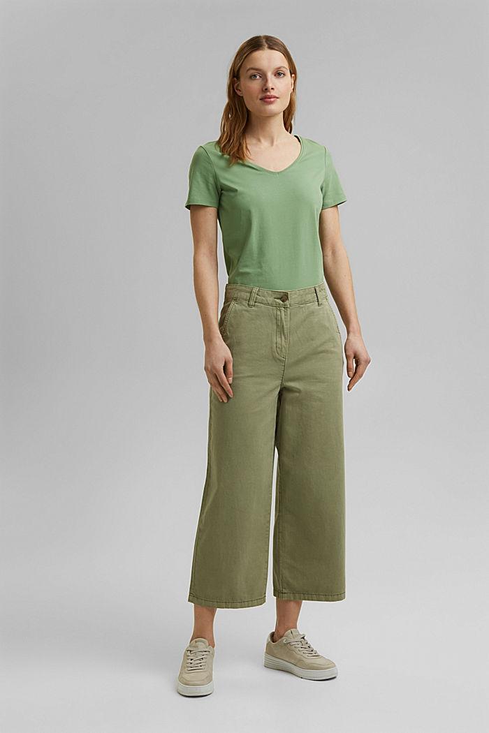 T shirt basique en coton biologique, LEAF GREEN, detail image number 6