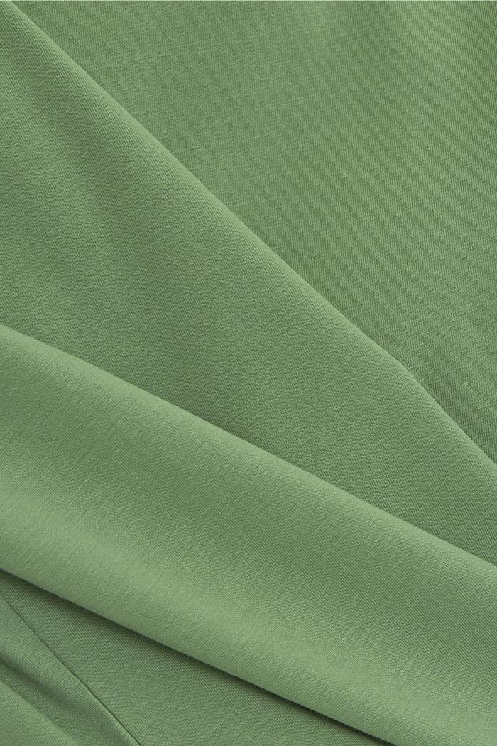 T shirt basique en coton biologique, LEAF GREEN, detail image number 4