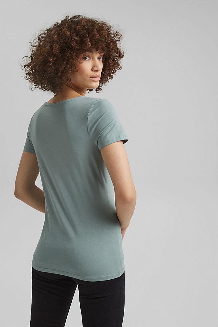 Basic T-shirt in organic cotton, TURQUOISE, detail image number 3