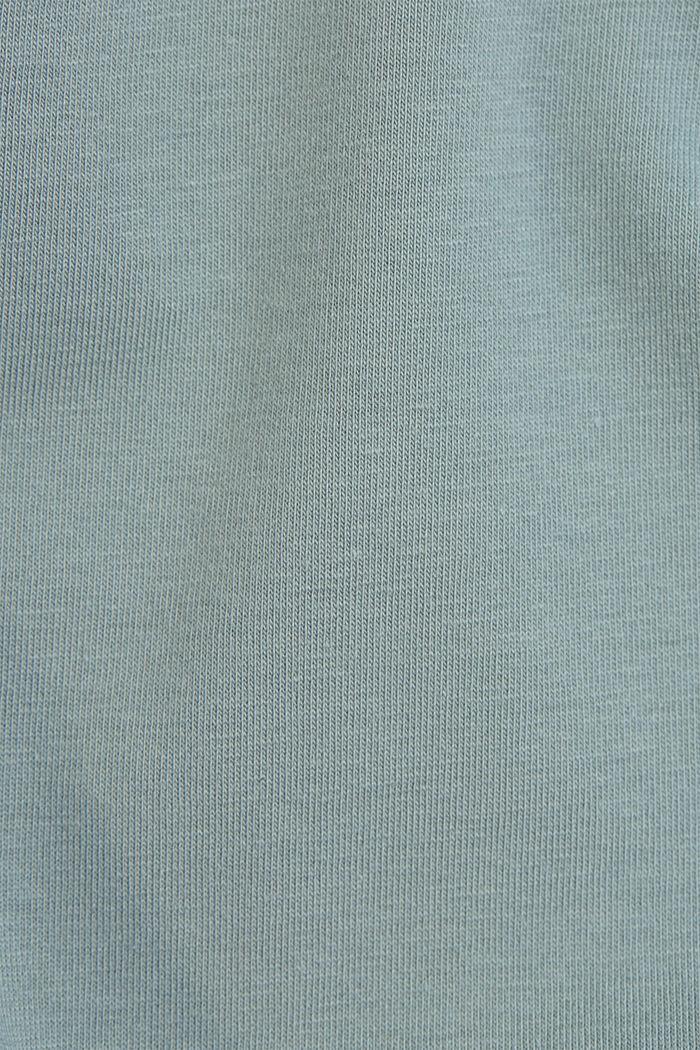 Basic T-shirt in organic cotton, TURQUOISE, detail image number 4
