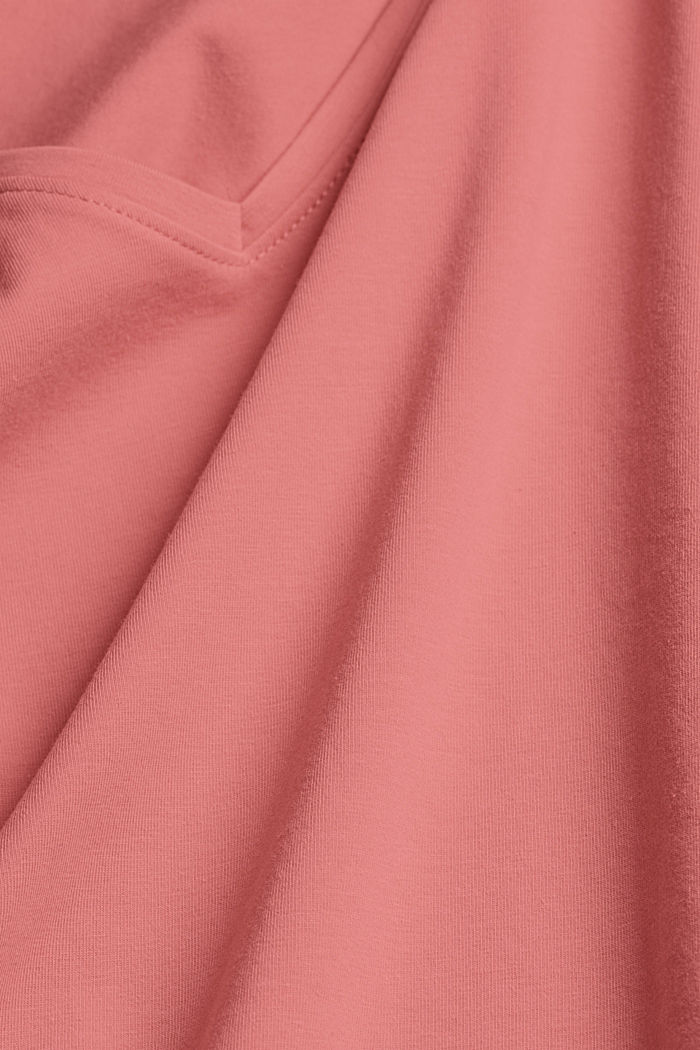 Basic T-shirt in organic cotton, CORAL, detail image number 4