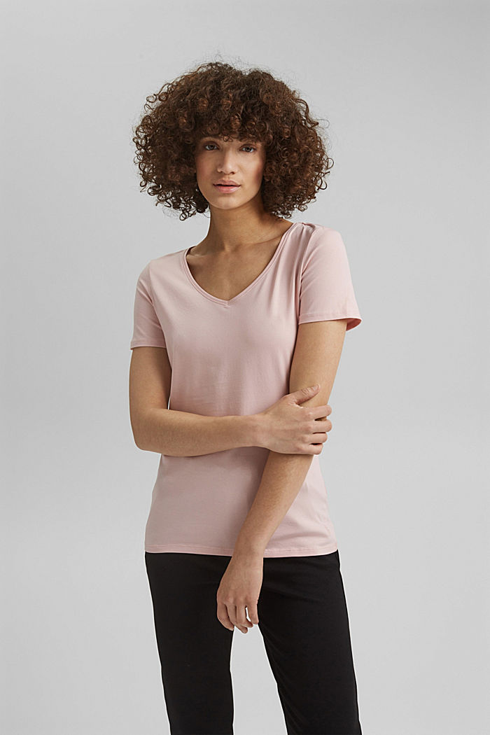 Basic T-shirt in organic cotton, NUDE, detail image number 0