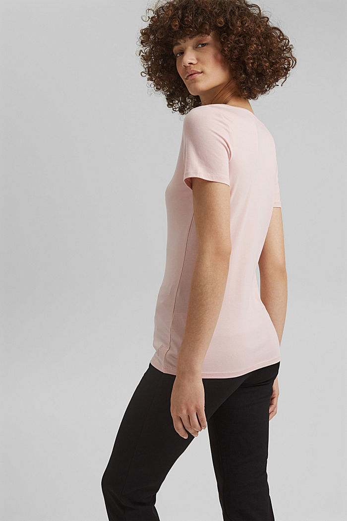 Basic T-shirt in organic cotton, NUDE, detail image number 3