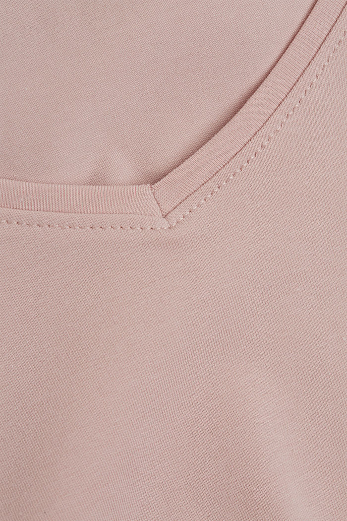 Basic T-shirt in organic cotton, NUDE, detail image number 4