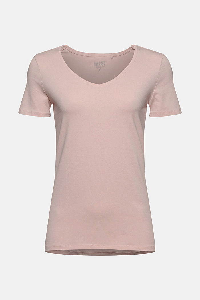 Basic T-shirt in organic cotton, NUDE, detail image number 5