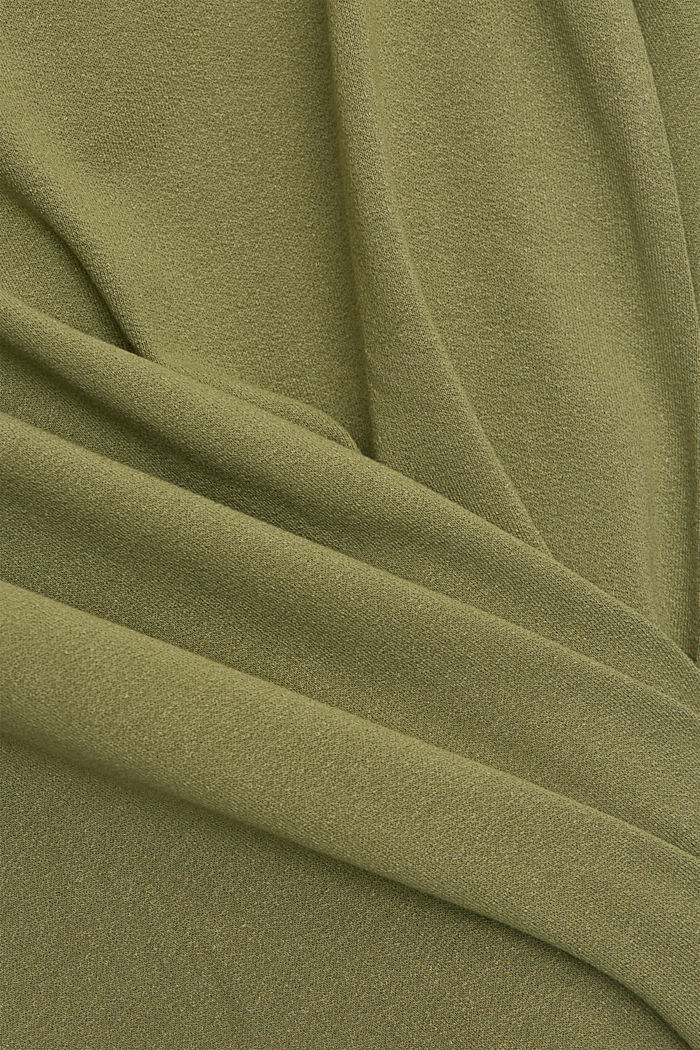 Long sleeve top with balloon sleeves, LIGHT KHAKI, detail image number 4