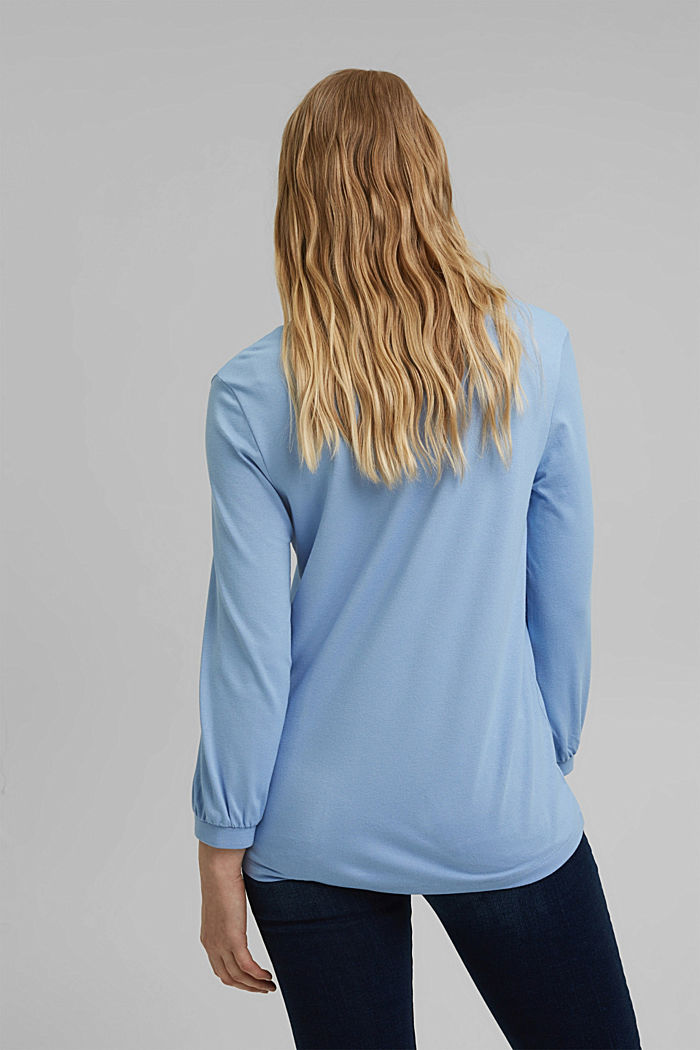 Long sleeve top with balloon sleeves, PASTEL BLUE, detail image number 3