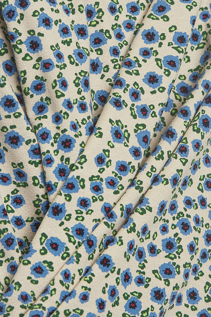 Long sleeve top with a print and balloon sleeves, OFF WHITE, detail image number 4