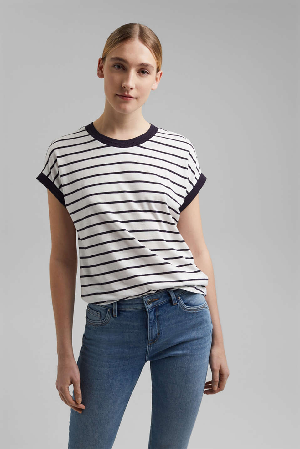 Esprit - T-shirt in cotone biologico e TENCEL™/Modal