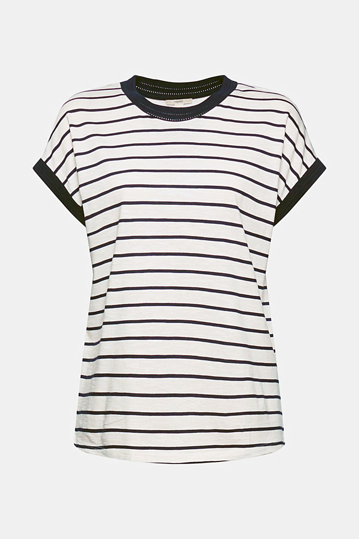 T-shirt made of organic cotton and TENCEL™/modal, OFF WHITE, detail image number 6