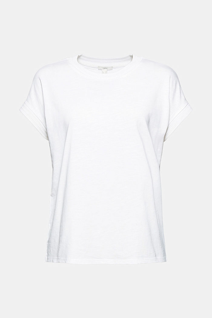 T-shirt made of organic cotton and TENCEL™/modal, OFF WHITE, detail image number 5