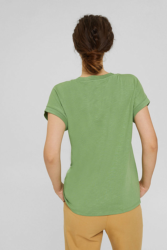 Top with openwork details, organic cotton/TENCEL™, LEAF GREEN, detail image number 3