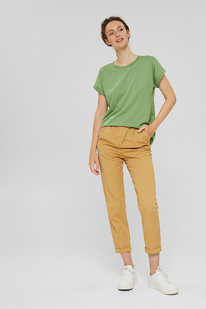 Top with openwork details, organic cotton/TENCEL™, LEAF GREEN, detail image number 1