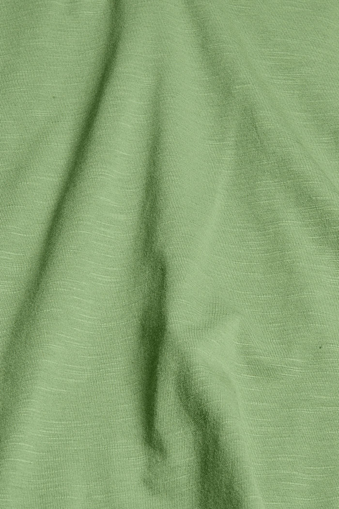 Top with openwork details, organic cotton/TENCEL™, LEAF GREEN, detail image number 4