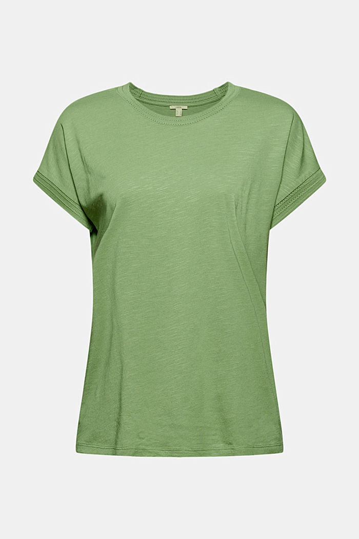 Top with openwork details, organic cotton/TENCEL™, LEAF GREEN, detail image number 6