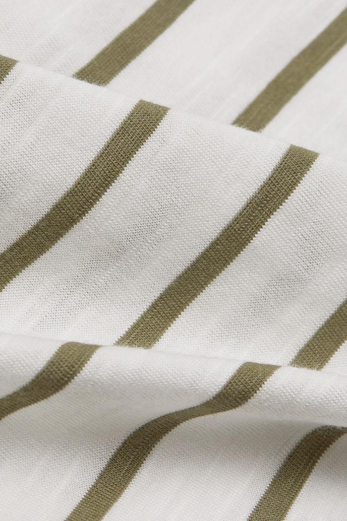Top with openwork details, organic cotton/TENCEL™, LIGHT KHAKI, detail image number 4
