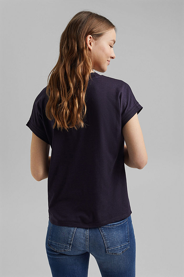 T-shirt made of organic cotton and TENCEL™/modal, NAVY, detail image number 3