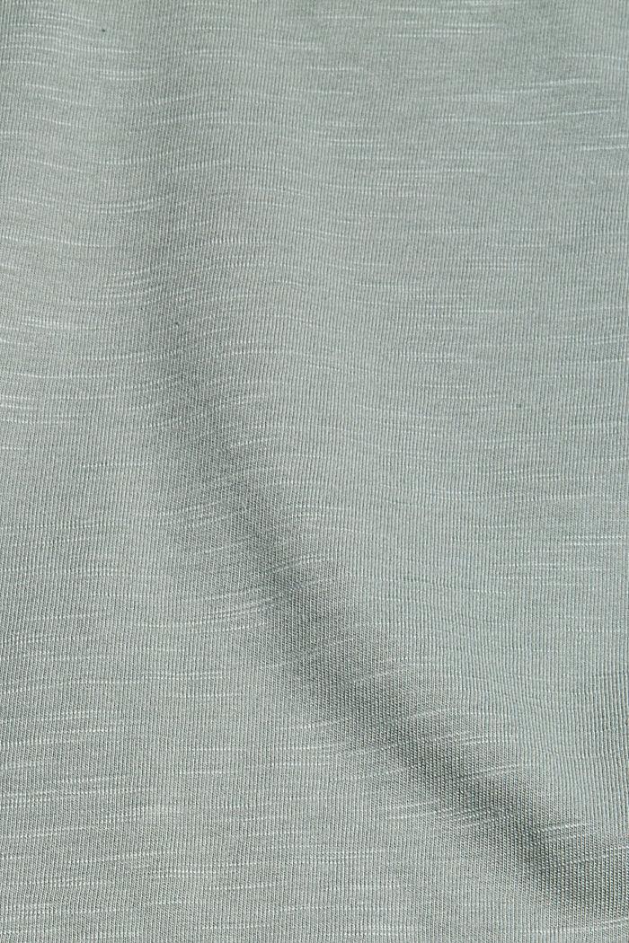 Shirt mit Ajour-Details, Bio-Baumwolle/TENCEL™, TURQUOISE, detail image number 4