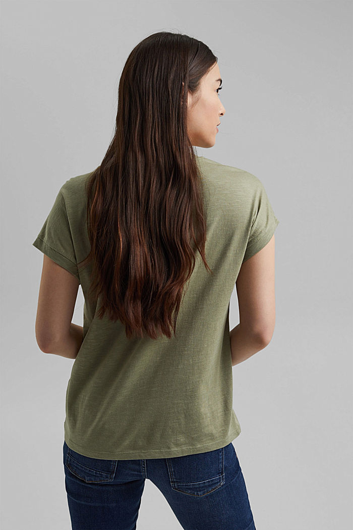 T-shirt made of organic cotton and TENCEL™/modal, LIGHT KHAKI, detail image number 3