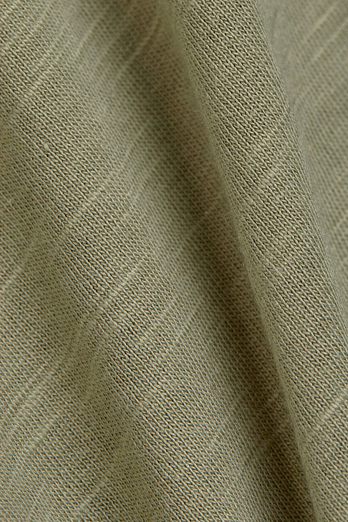 T-shirt made of organic cotton and TENCEL™/modal, LIGHT KHAKI, detail image number 4