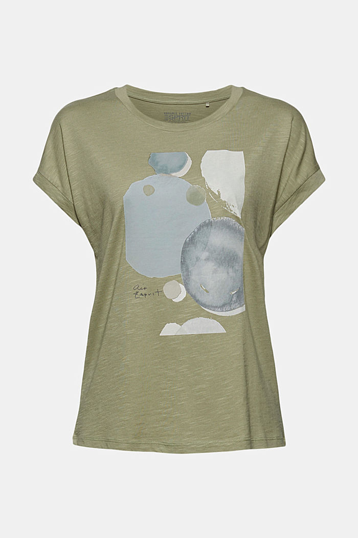 T-shirt made of organic cotton and TENCEL™/modal, LIGHT KHAKI, detail image number 7