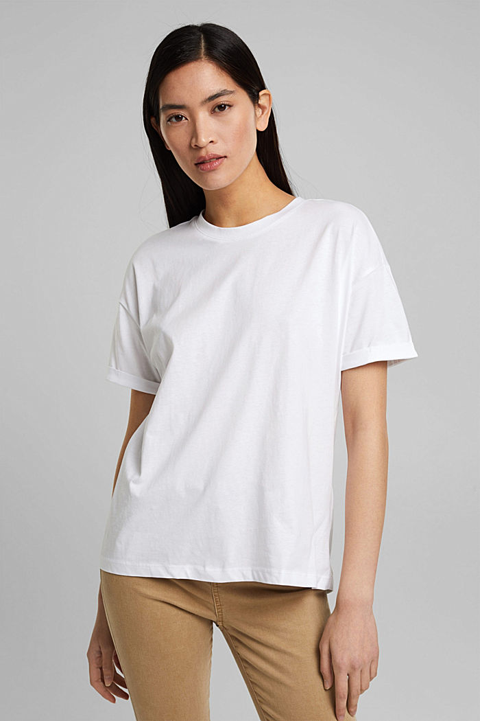 T-Shirt aus 100% Bio-Baumwolle, WHITE, detail image number 0