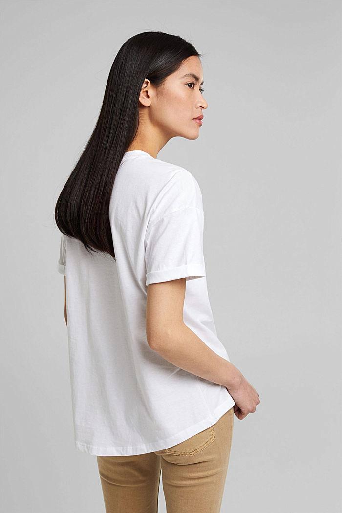 T-Shirt aus 100% Bio-Baumwolle, WHITE, detail image number 3