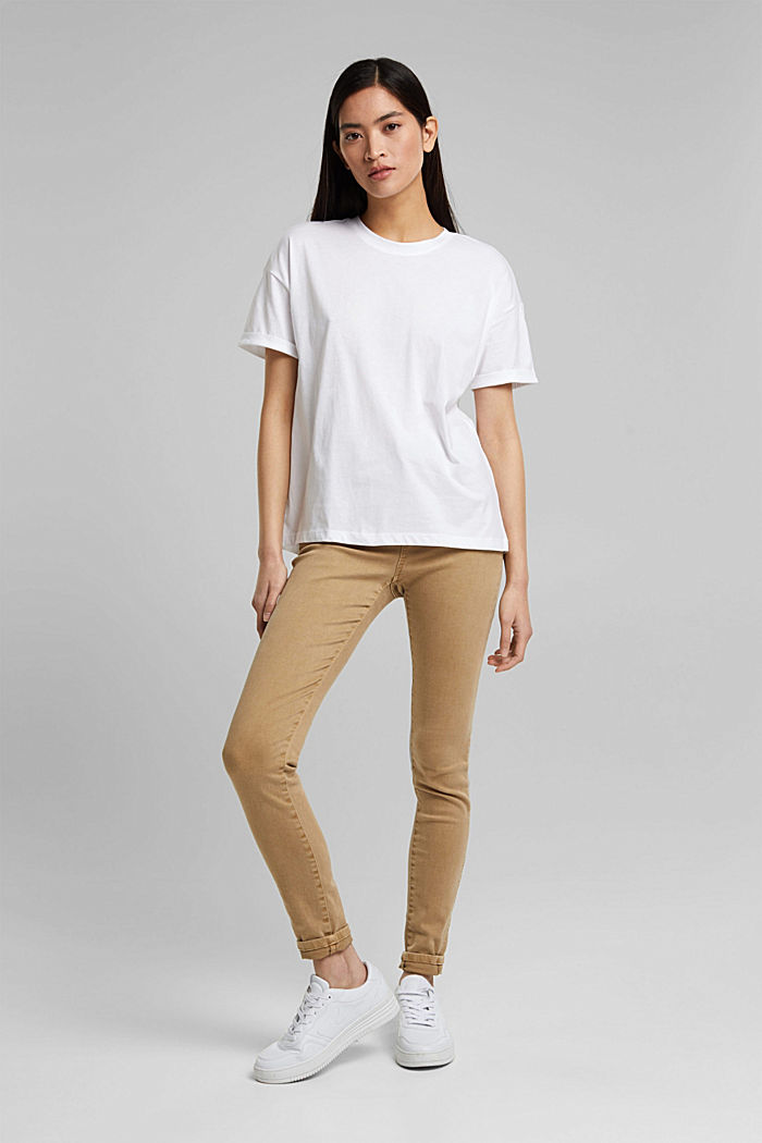T-Shirt aus 100% Bio-Baumwolle, WHITE, detail image number 1