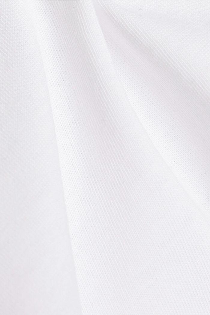 T-Shirt aus 100% Bio-Baumwolle, WHITE, detail image number 4