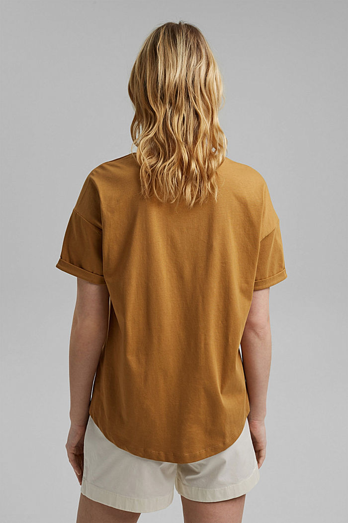 T-shirt made of 100% organic cotton, CAMEL, detail image number 3
