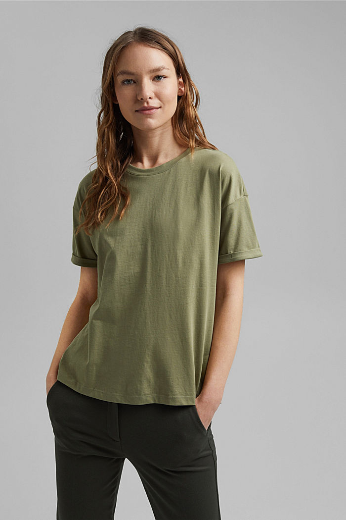 T-shirt made of 100% organic cotton, LIGHT KHAKI, detail image number 0