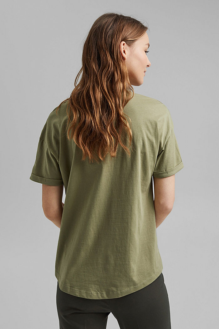 T-Shirt aus 100% Bio-Baumwolle, LIGHT KHAKI, detail image number 3