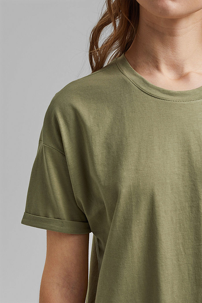 T-Shirt aus 100% Bio-Baumwolle, LIGHT KHAKI, detail image number 2