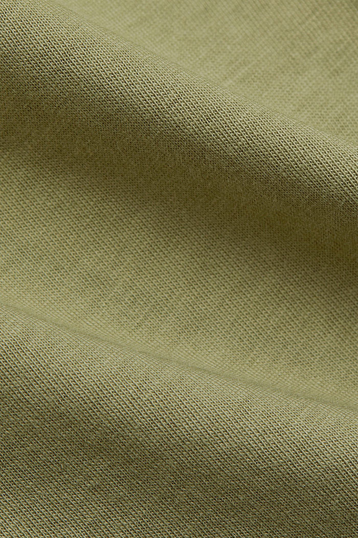 T-Shirt aus 100% Bio-Baumwolle, LIGHT KHAKI, detail image number 4
