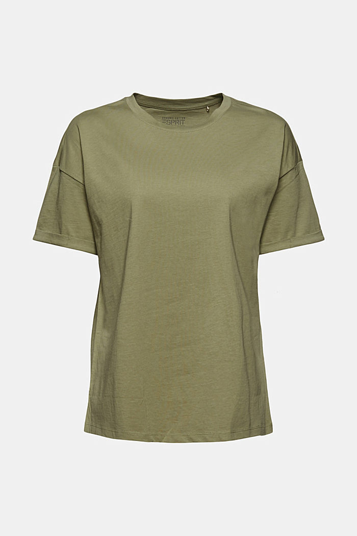T-Shirt aus 100% Bio-Baumwolle, LIGHT KHAKI, detail image number 7