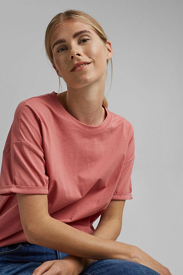 T-shirt made of 100% organic cotton, BLUSH, detail image number 0
