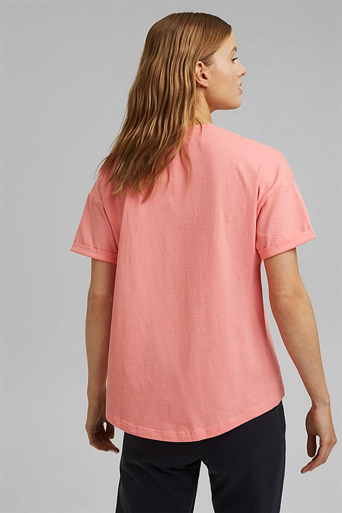 T-shirt made of 100% organic cotton, PINK, detail image number 3