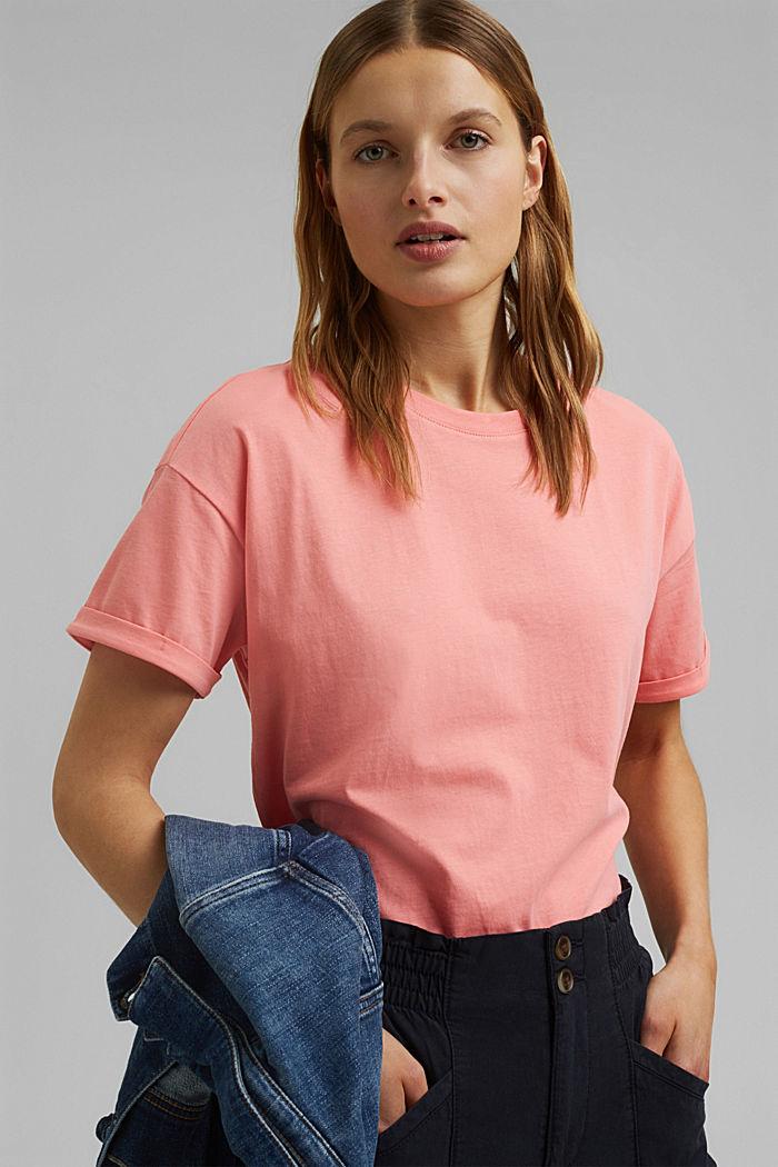 T-shirt made of 100% organic cotton, PINK, detail image number 5