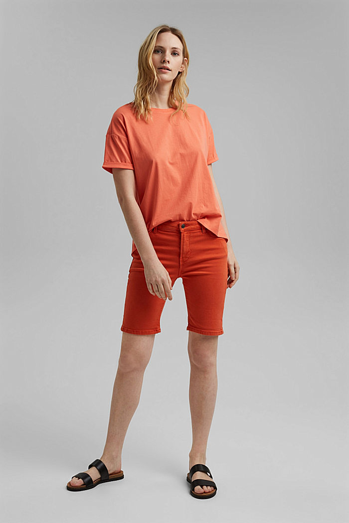 T-shirt made of 100% organic cotton, CORAL ORANGE, detail image number 1
